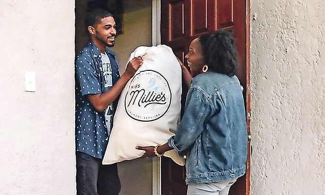 Miss Millie's offers pick-up and drop-off laundry services.