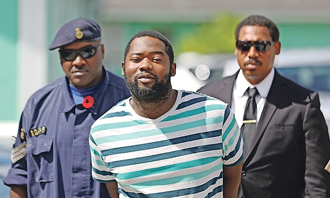 Lloyd Minnis outside court at a previous hearing. Photo: Terrel W Carey/Tribune Staff