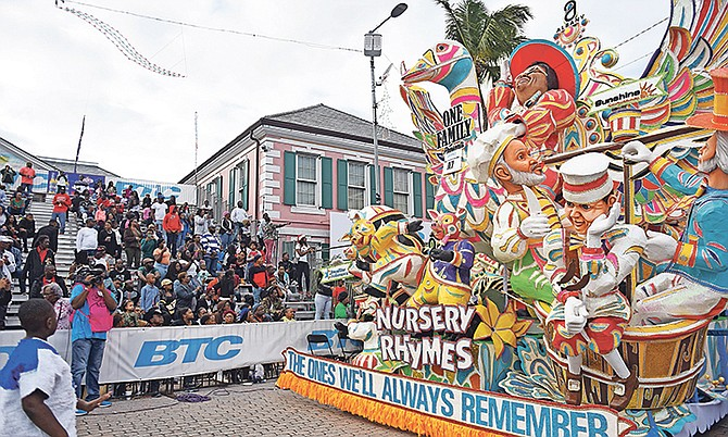 The Bahamas at its best. One Family in action at the Boxing Day Junkanoo. Photo: Shawn Hanna/Tribune Staff