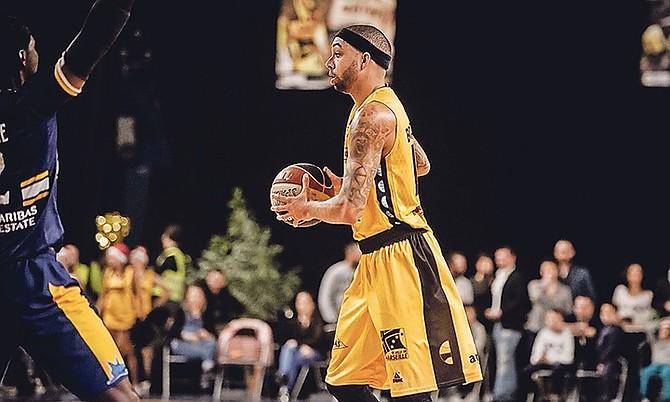 Pro basketball player Jaraun 'Keno' Burrows in action.