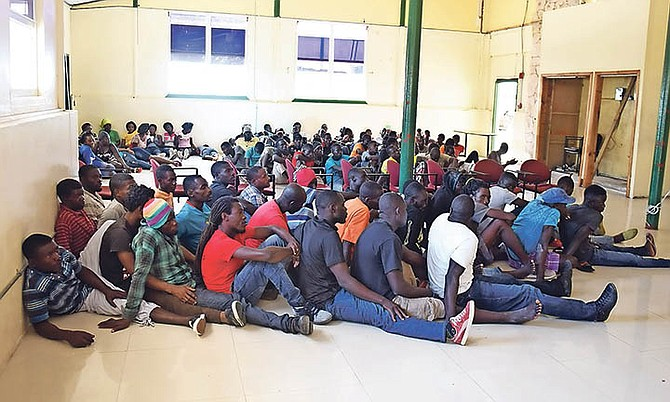 The Royal Bahamas Defence Force apprehended 101 Haitian migrants last Saturday including 84 males, 16 females and one child.
