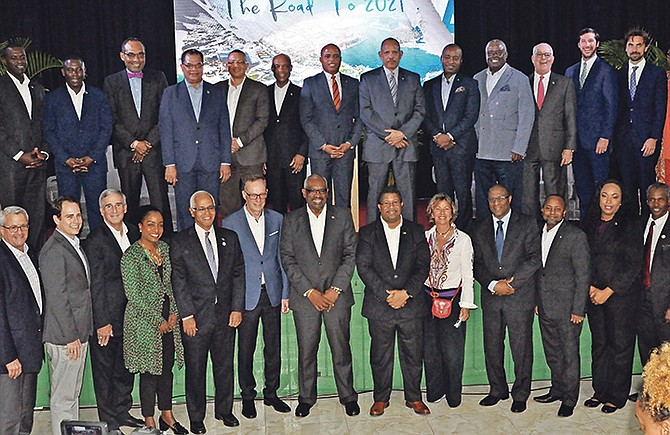 PRIME Minister Dr Hubert Minnis and members of his Cabinet attended an information meeting in Grand Bahama last night.