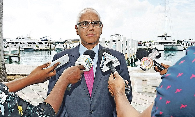 Minister of Tourism and Aviation Dionisio D'Aguilar. Photo: Terrel W. Carey Sr/Tribune Staff