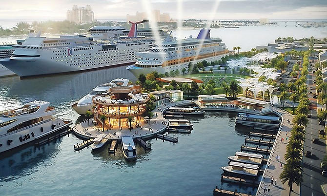 How the new waterfront could look, according to Global Ports Holding's plans.