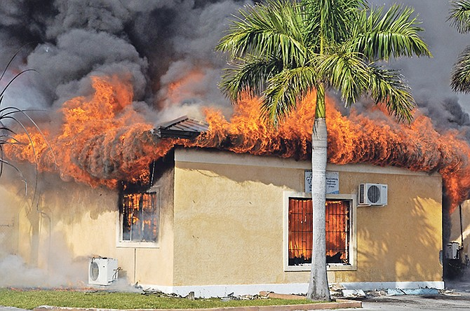 The fire at Britannia Mini Mall.
