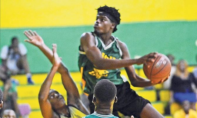 Teleos Cherubims in action against Zion Academy. Photo: Shawn Hanna/Tribune staff