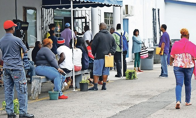 Outside the Passport Office. Photo: Terrel W. Carey Sr/Tribune Staff