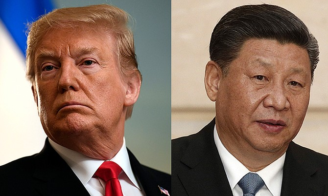 Presidents Trump and Xi Jinping.