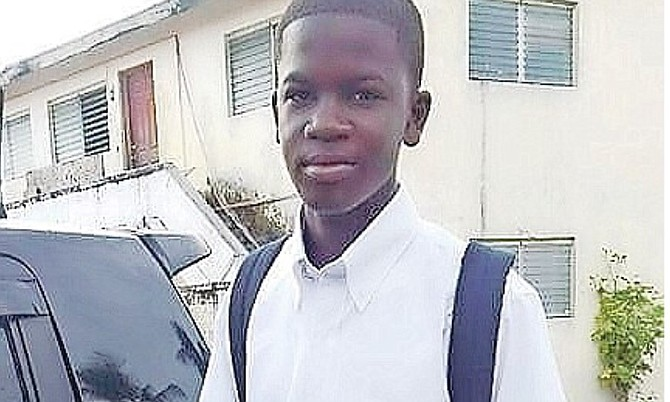 Perry Rolle Jr, a 15-year-old from TA Thompson Junior High School.