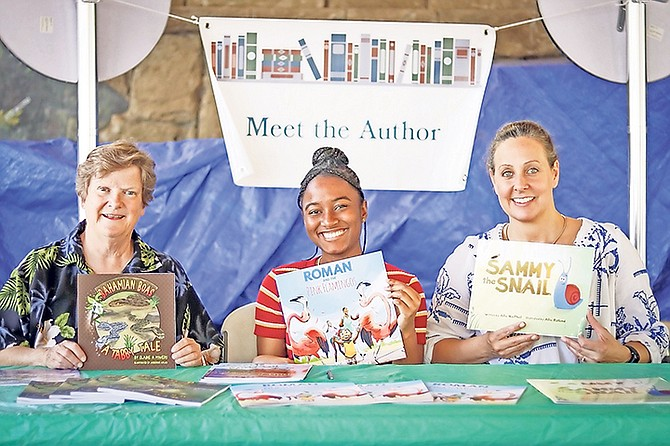A trio of best-selling authors: (l-r) Elaine A Powers, Sierra Blair and Allie MacPhail.