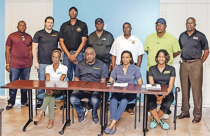 NEWLY ELECTED: Members of the Bahamas Basketball Federation.