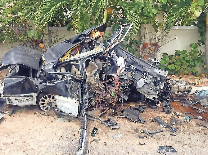 A taxi driver escaped with 'minor' injuries after this crash.
