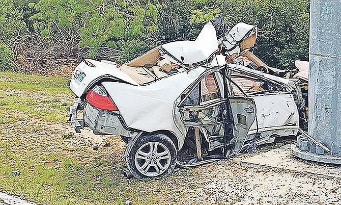 The scene of a fatal crash last Thursday.