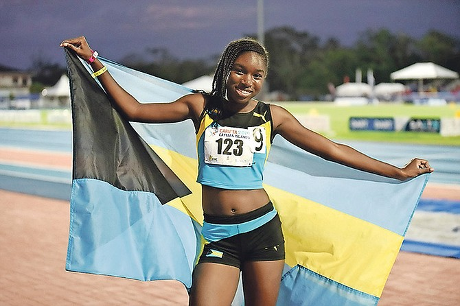 Jasmine Knowles after her win in the under-20 girls' 800m.
