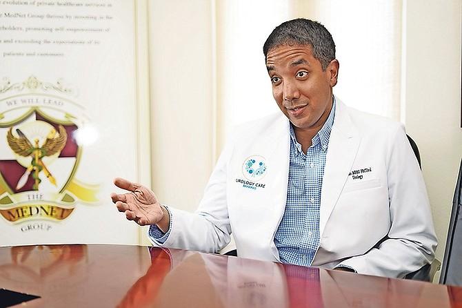 Dr Greggory Pinto speaks with The Tribune. Photo: Terrel W. Carey Sr/Tribune Staff