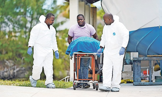 The body was taken out of the canal in eastern New Providence yesterday.