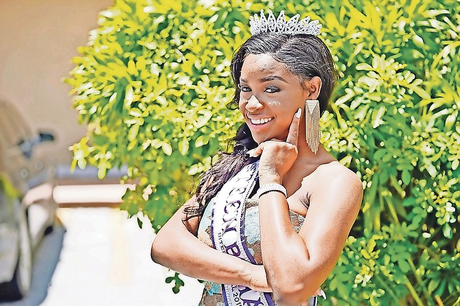 Fanaeya Nicholson, the newly crowned Miss Teen Bahamas International.