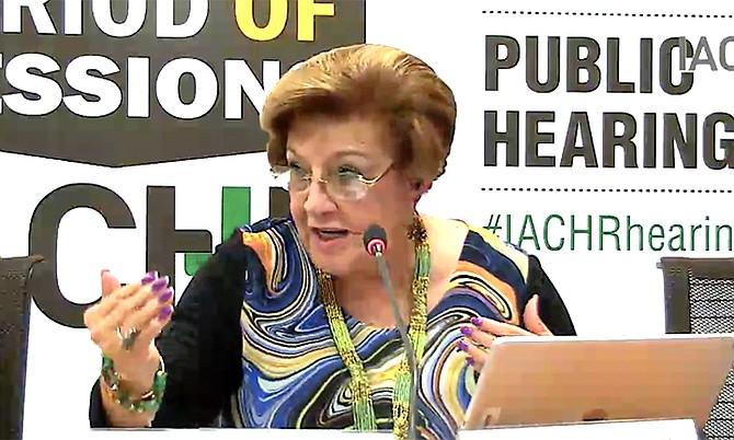 IACHR president Esmeralda Arosemena de Troitiño.