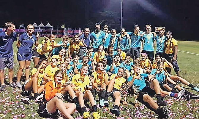 The Lyford Cay Dragons won both the boys and girls national titles.