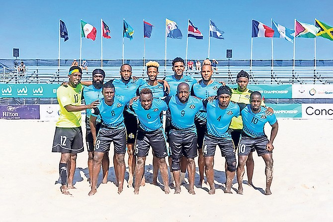 The Bahamas men's national beach soccer team.