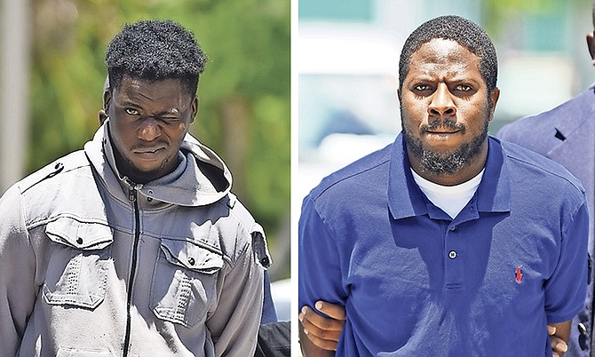 Deshawn Brooks and Ramon Young outside court. Photos: Shawn Hanna/Tribune staff