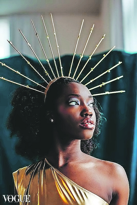 Bahamian model LaGrea Higgs who was chosen by Vogue's Italian edition for a special photo shoot. Photo: Jenn Terrell