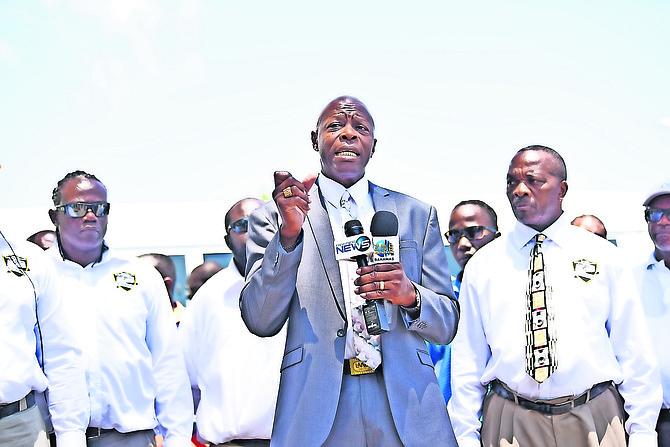 Frederick Farrington, president of the Bahamas United Bus Drivers' Union