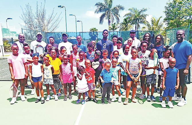 Executives and players at the BLTA 'Play Tennis' programme.