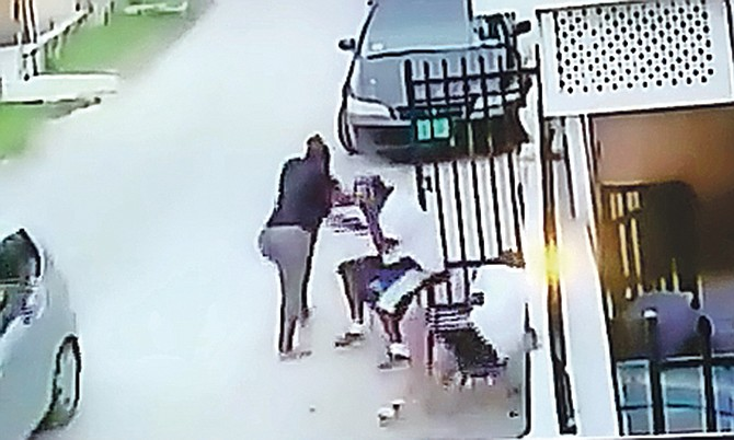 A still from the video which shows the moment of the shooting.