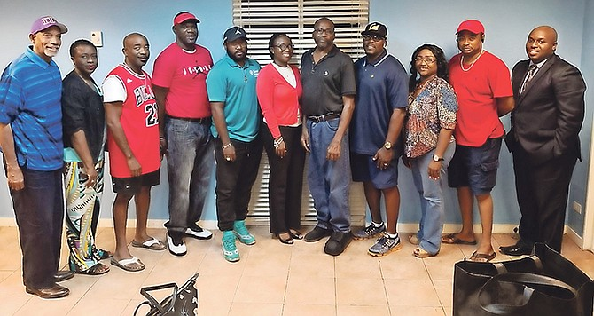Newly elected NPBA officers from left are Terrance McSweeney, Sophia Hunter, Anthony Rolle, Kevin McPhee, Ryan Turnquest, Rhondia Johnson, president James Price, Kevin Johnson, Rochelle Kemp, Donnie Culmer and Moses Johnson.