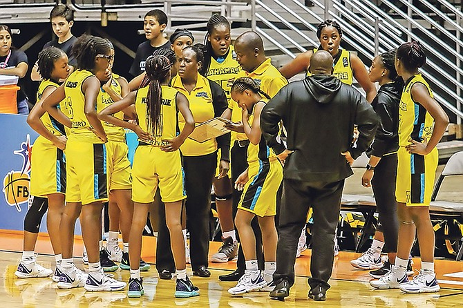 LEARNING EXPERIENCE: Team Bahamas finished sixth at the Centrobasket Under-17 Championships for Women yesterday after closing out the tournament with a 73-50 loss to Costa Rica at the Roberto Clemente Coliseum in San Juan, Puerto Rico.