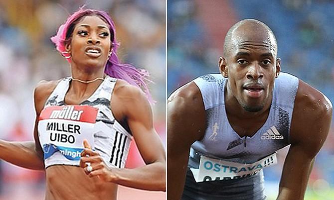 Shaunae Miller-Uibo and Steven Gardiner (file photos)