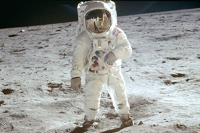 Buzz Aldrin on the surface of the moon. (Neil Armstrong/NASA via AP)