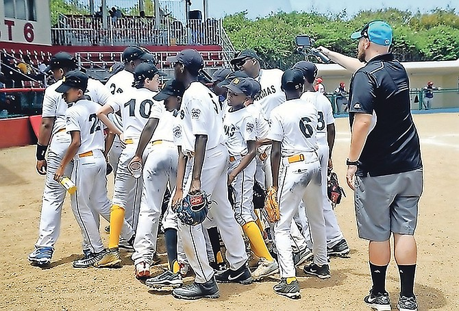 TEAM Bahamas, the under-12 team from the Junior Baseball League of Nassau, scored a 5-0 shutout win over La Javilla Little League of the Dominican Republic yesterday at the Little League World Series Caribbean regional qualifier in Willemstad, Curacao.