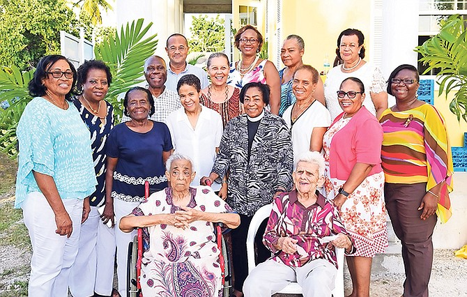 Members of the fundraising committee. Front row seated l-r: Clarice Granger, Betty Cole; second row l-r: Constance Miller, Julia Burnside, Maria Symonette, Paula Adderley, Rev. Beryl Higgs, Diane Dean, Dr Ruth Sumner (president), Sonia Adderley (chief commissioner); third row l-r: Alvin Rolle (architect), Iris Dillet-Knowles (honorary secretary), Keith Sands, Michele Fields (first vice-president), Colleen Nottage, and Elma Garraway (assistant chief commissioner),