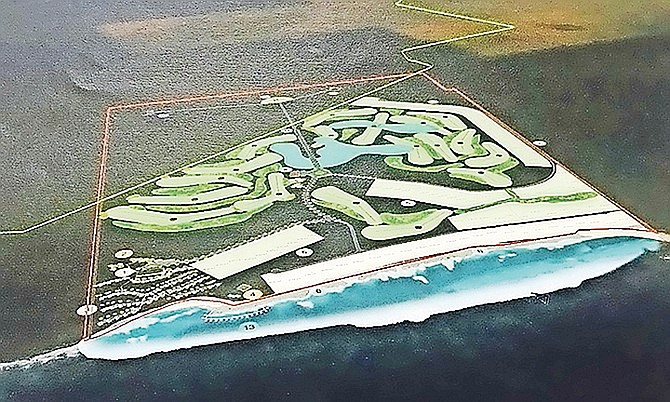 An artist's impression of the site in South Abaco.