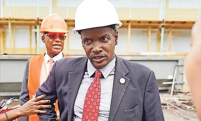 Minister of Public Works Desmond Bannister.