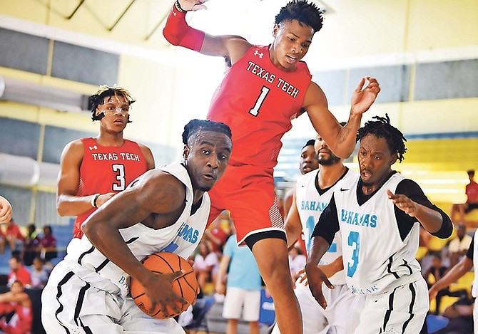 OUR men's national basketball team pulled off a 63-57 victory last night over the Texas Tech Red Raiders in the Bahamas Basketball Federation's Summer of Thunder tournament at the Kendal Isaacs Gymnasium.  