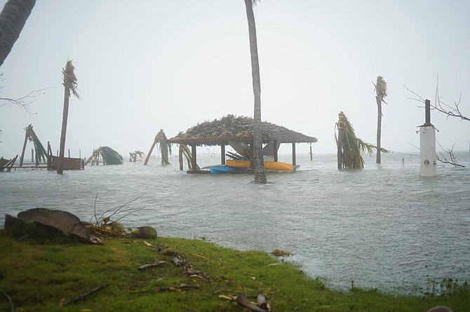Damage from Hurricane Dorian in Abaco. Photo: Terrel W Carey Sr/Tribune staff
