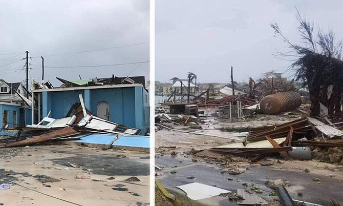 Pictures from social media of destruction in Hope Town, Abaco.