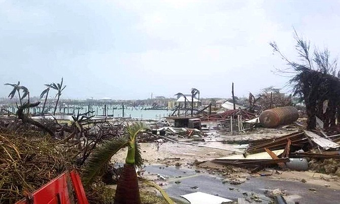 The scene in Hope Town after the storm.