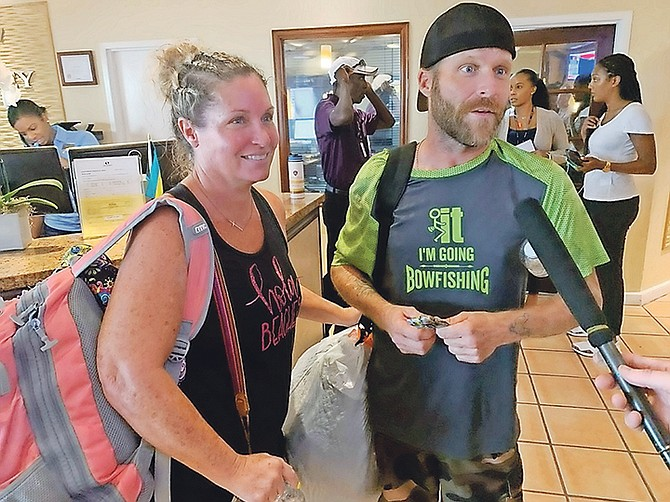 Texan siblings Bryan and Heather Lee were evacuated from Abaco into New Providence on Tuesday.