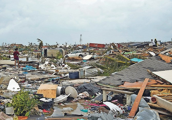 A scene of destruction in Abaco.