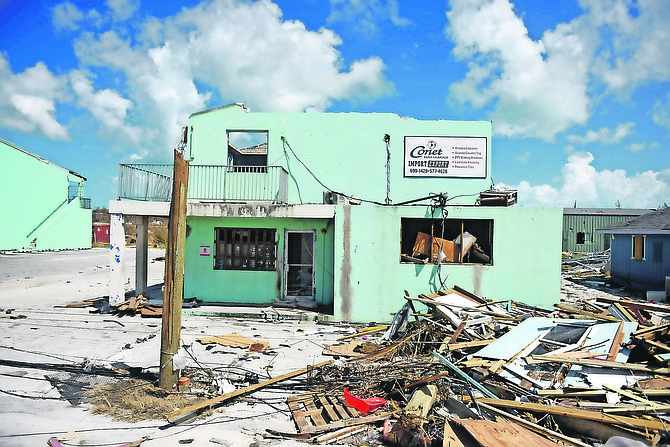 The widespread damage of Hurricane Dorian in Abaco. Photo: Shawn Hanna/Tribune Staff