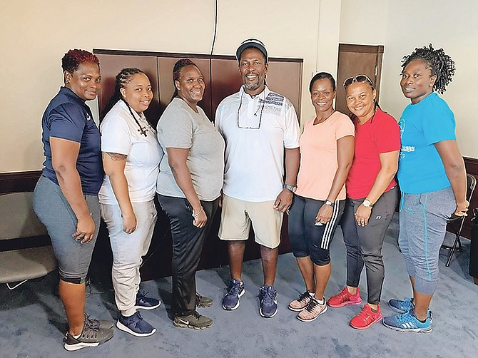 GSSSA newly elected officers pictured from left are Tia Rolle, Shakira Farrington, president Varel Davis, Kendal Campbell, Fiona Tucker, Keisha Pratt and Nikita Knowles.
