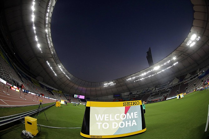 The Khalifa International Stadium in Doha, Qatar. (AP Photo/Hassan Ammar)