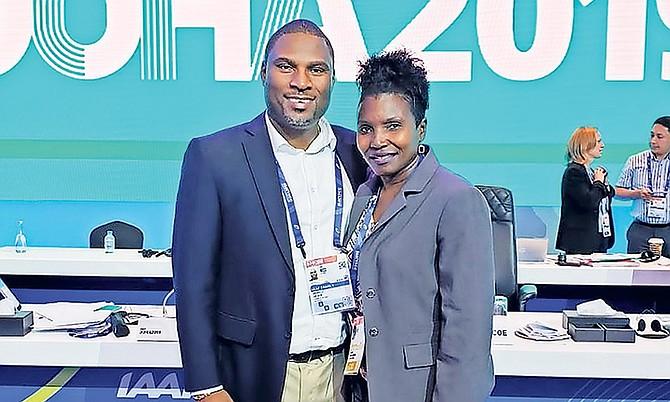 BAAA president Drumeco Archer and Pauline Davis-Thompson.