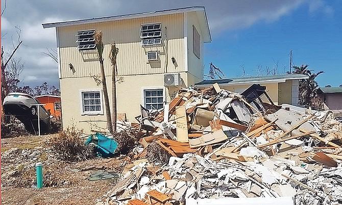 Debris in East End in the wake of Hurricane Dorian.