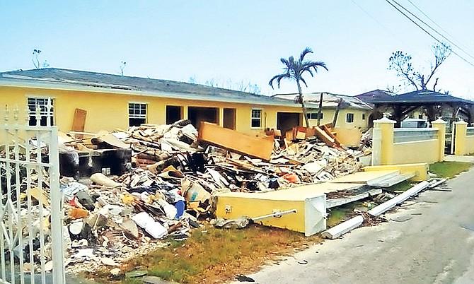 Damage in East End after Hurricane Dorian.