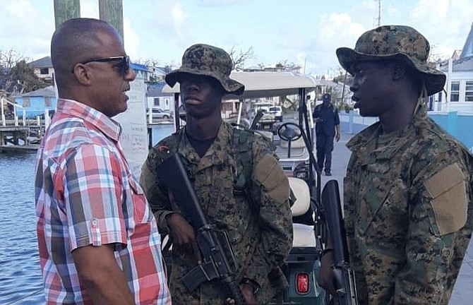 Minister of National Security Marvin Dames on his visit to Abaco and the surrounding Cays.